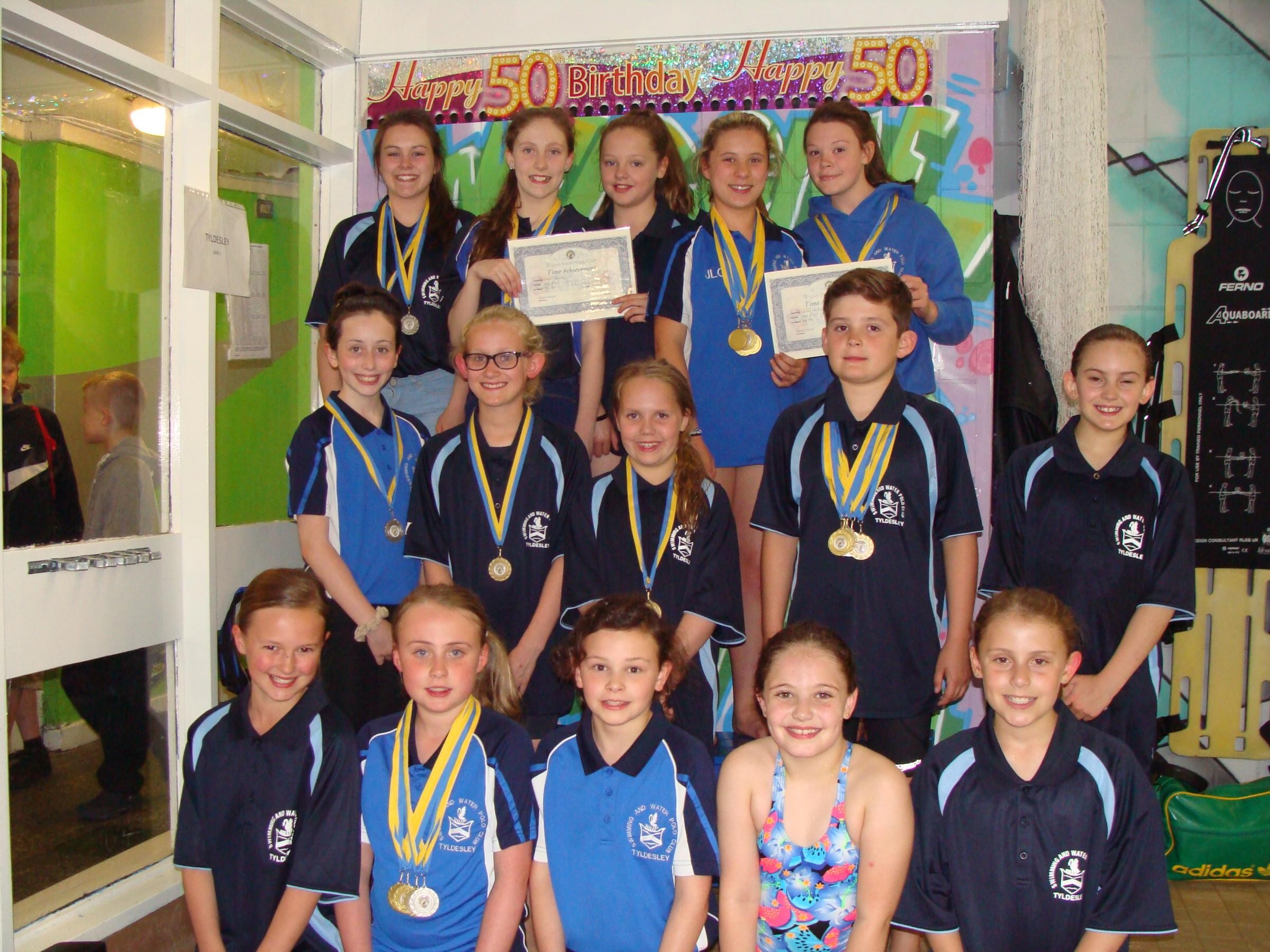 Tyldesley swimmers enjoy golden day