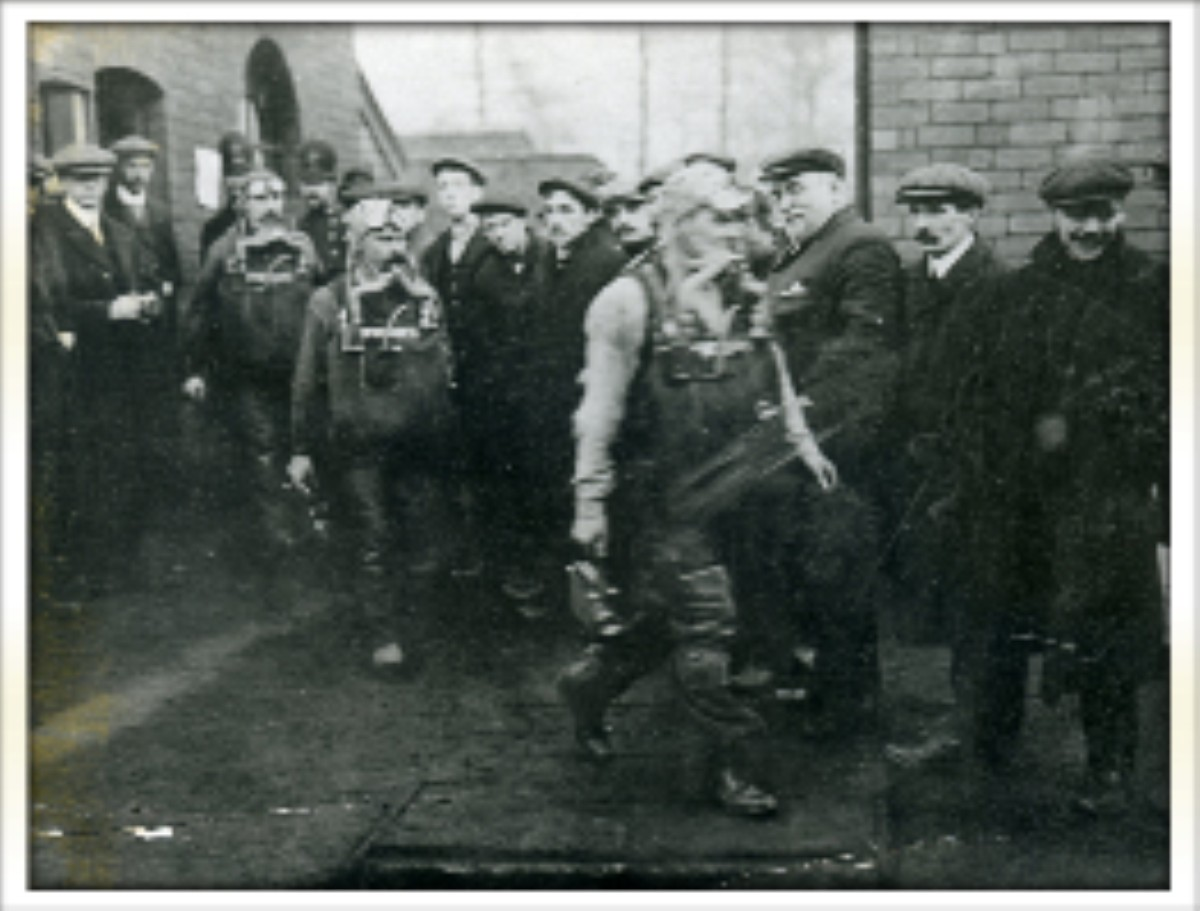 A rescue team from Maypole Colliery, Abram at the Pretoria