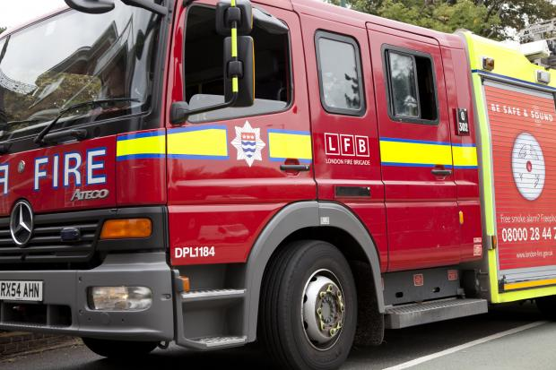 Fire crews attended the car blaze