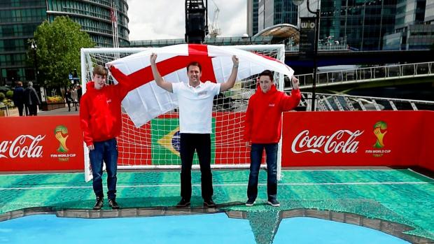 Andrew Gerrard and Ciaran Burke met Michael Owen in London as part of the Coca-Cola competition
