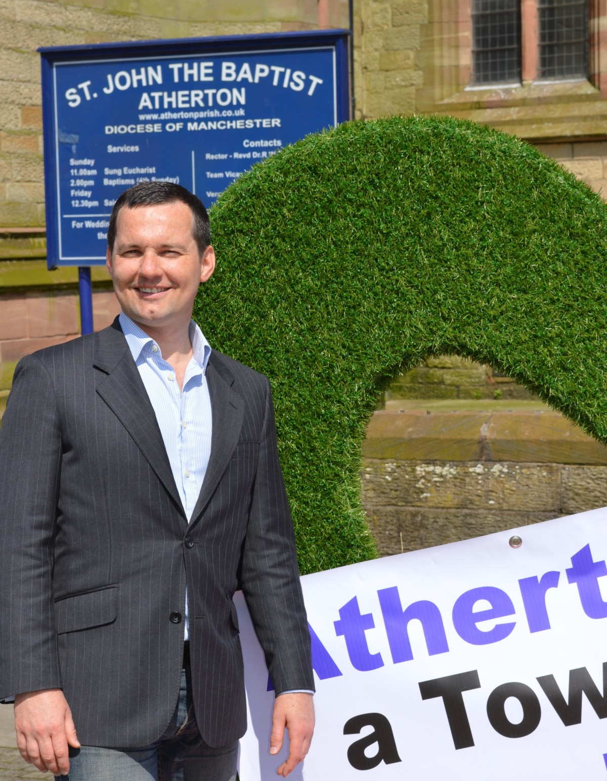 Parliamentary candidate backs campaign for Atherton town council