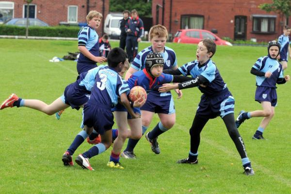 Leigh Journal: Twelve Apostles take on Sacred Heart in the rugby tournament
