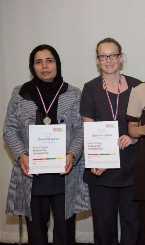 Leigh Journal: Runners up Alia Firdous and Anna Dykins
