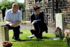 Andy Burnham with Chris Hawes at Lowton St Mary`s