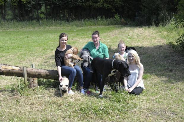 Leigh Journal: Steven and Emma Bradley with their daughter Ellie and employees Naomi Harris and Grace Robinson