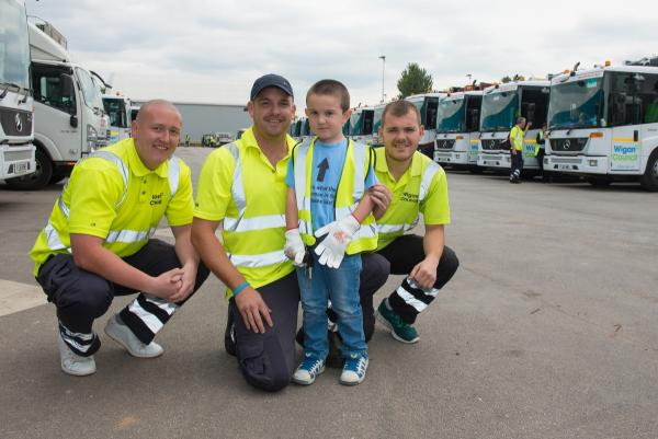 'Obsessed' youngster becomes Billy the bin man for birthday treat