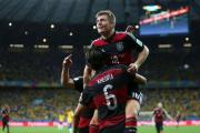 Germany's Toni Kroos celebrates scoring his side's fourth goal of the game