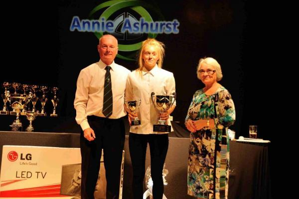 Club secretary with Annie Ashurst and Josie Carter