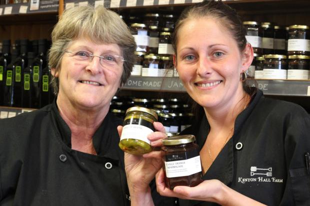 Head chef Barbara Bulmer with Sarah Ball who cooked both winning products