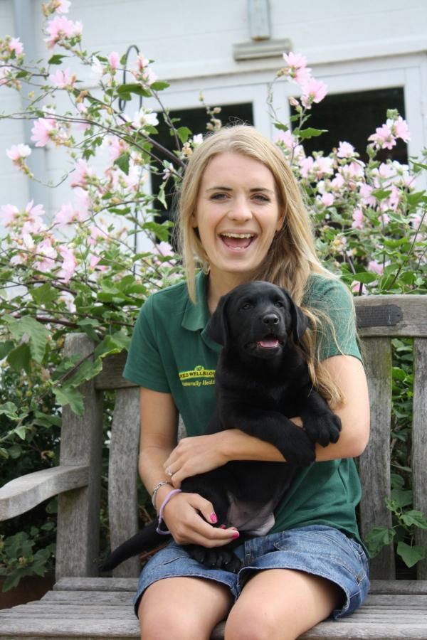 Puppy co-ordinator Jessica Hardiman with Neave