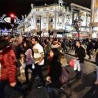 Leigh Journal: Christmas shoppers at Oxford Circus, London.