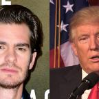 Leigh Journal: Donald Trump needs a kiss to calm down, actor Andrew Garfield says
