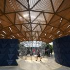 Leigh Journal: Artist behind Serpentine temporary pavilion tried to 'embrace British climate'