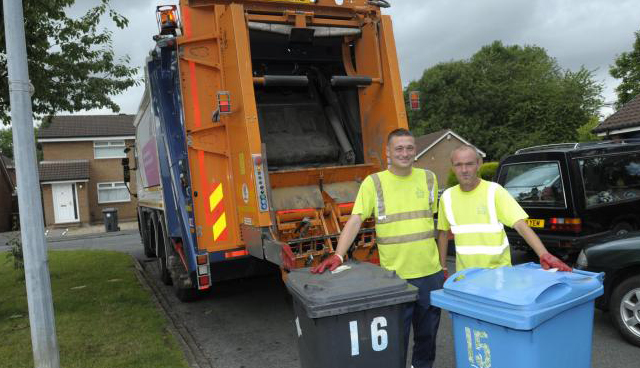Binmen collecting rubbish