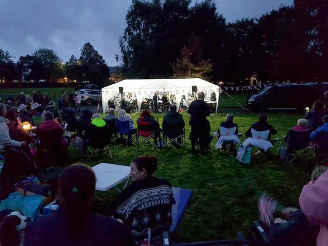 Tyldesley Brass Band performing at the Proms in the Park event