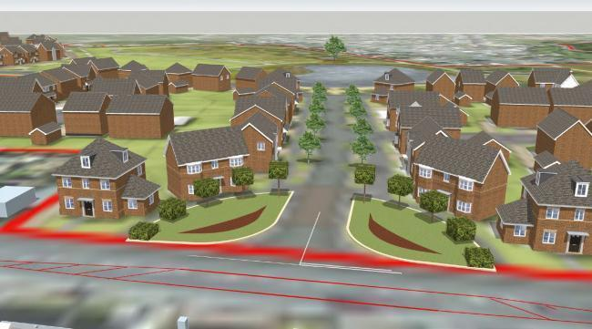 An artist's impression of homes at the North Leigh Park project
