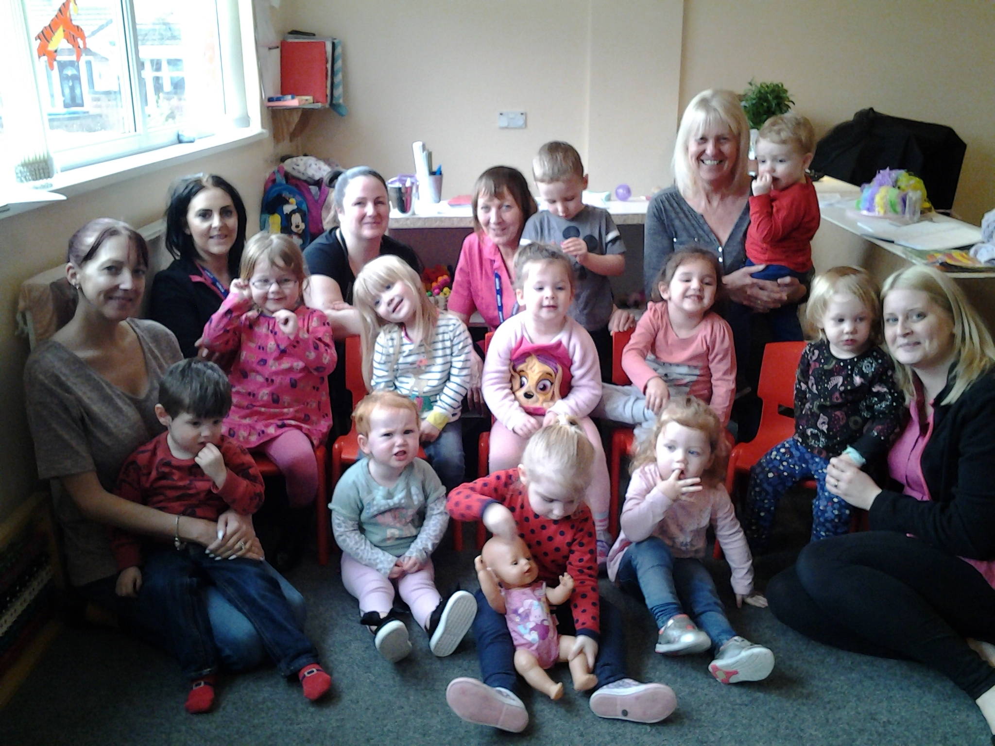All smiles for staff and children at the nursery after its latest inspection result