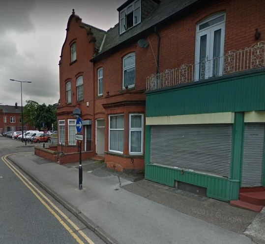 The green-painted property on Railway Road in Leigh. Picture: Google Maps
