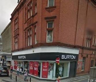 Burtons Menswear on Bradshawgate in Leigh. Picture: Google Maps