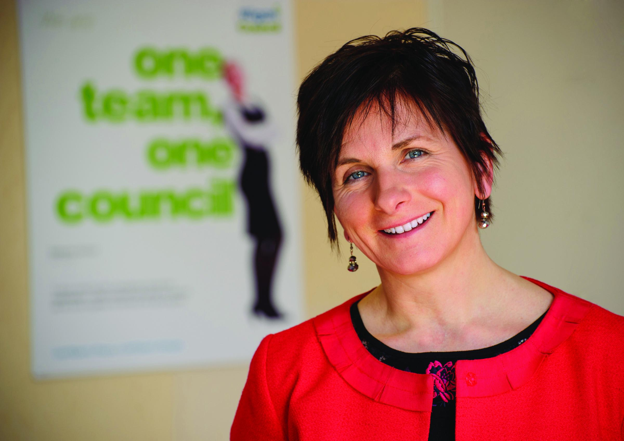 Wigan Council chief executive Donna Hall