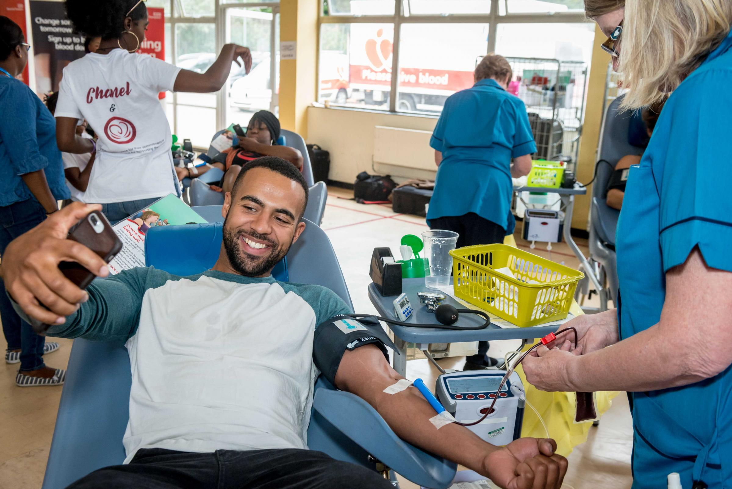 A total of 316 men who registered to be donors in January 2018 gave blood