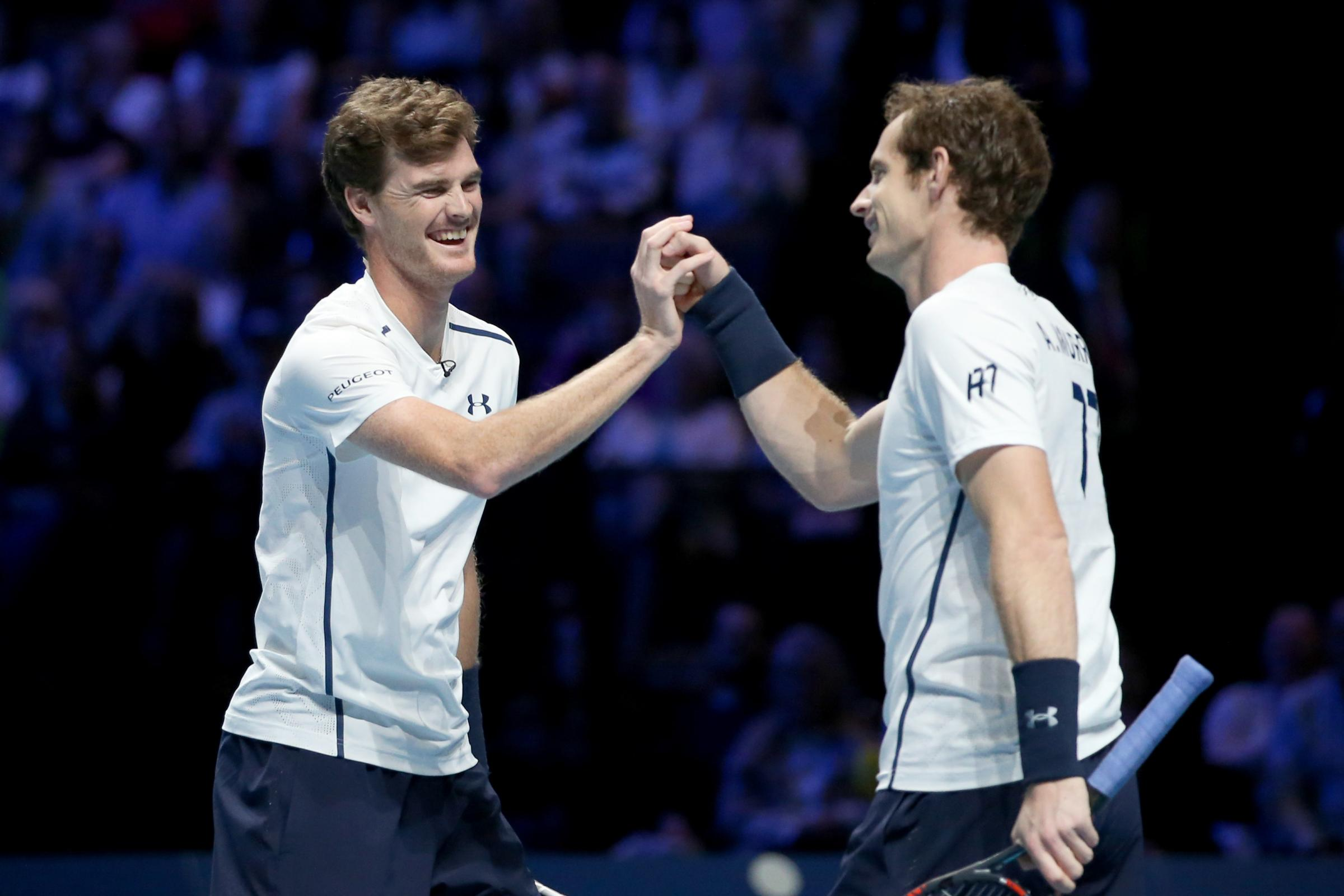 Jamie, left, and Andy Murray have shared plenty of special moments on court