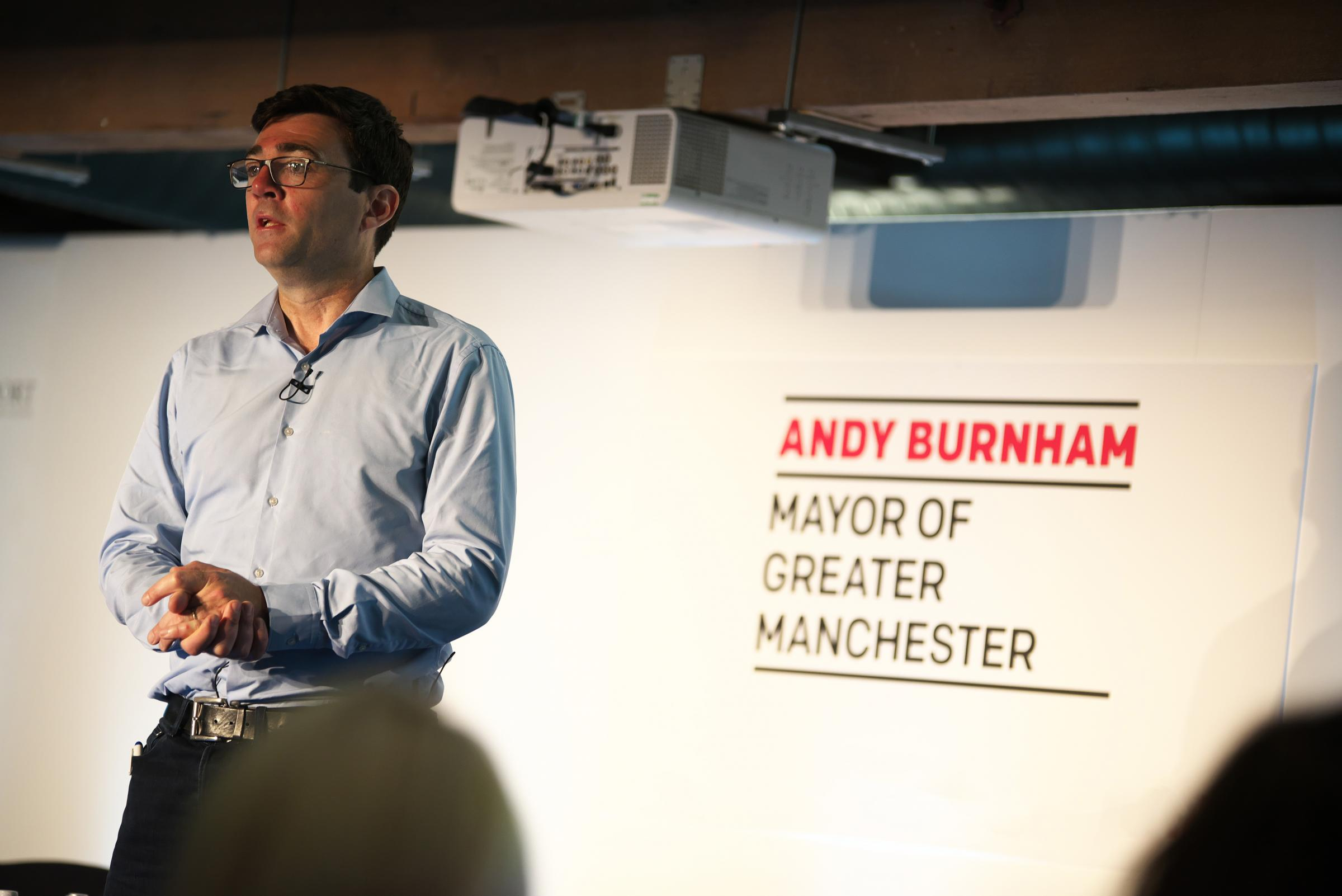 Greater Manchester mayor Andy Burnham