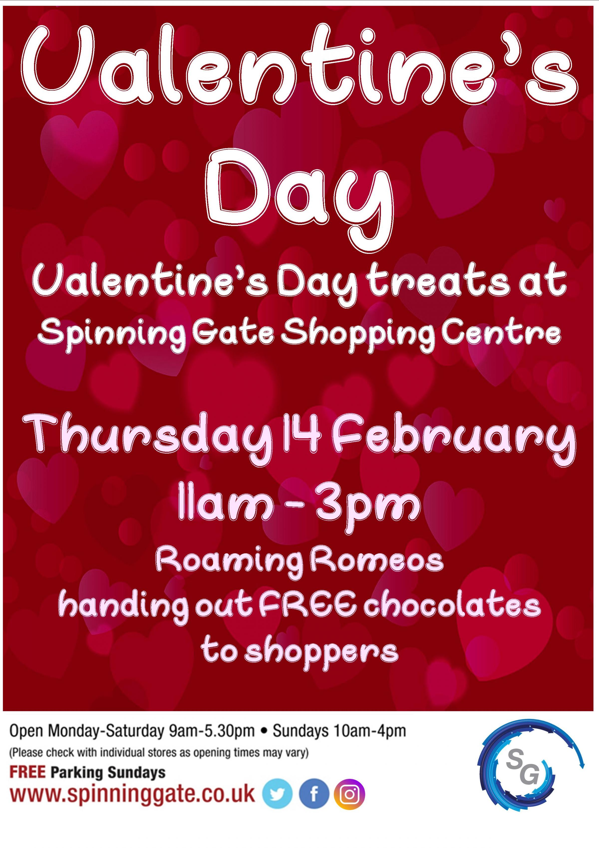 Valentine's Day Treats at Spinning Gate Shopping Centre