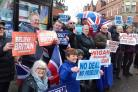 The Brexit march in Wigan on Saturday