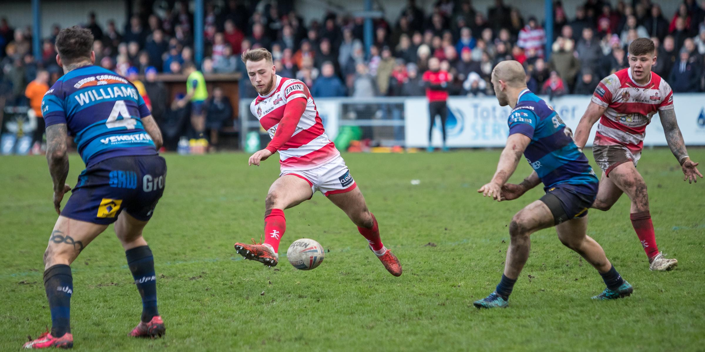 Danny Richardson threads the ball through. Pic: Richard Walker
