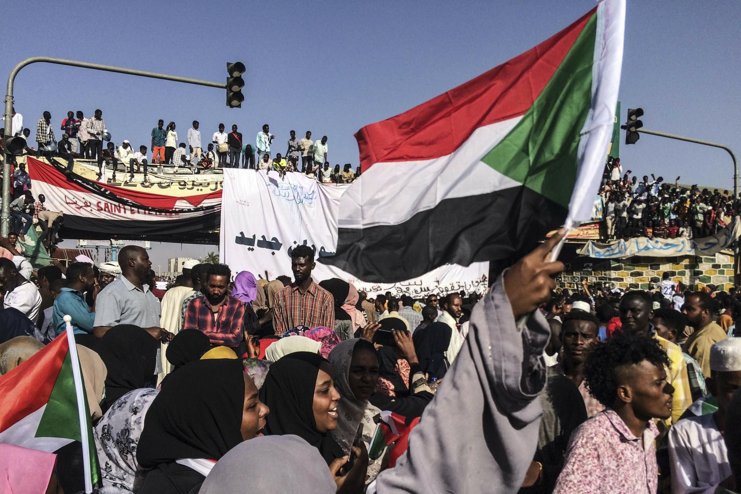 Sudanese demonstrators