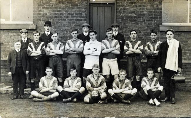 The Astley Church Institute Association Football Club, circa 1909-10. Picture: Wigan and Leigh Archives and Local Studies, Wigan Council