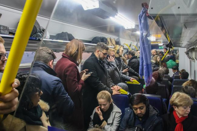 Overcrowding on a Northern train