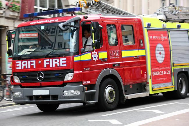 Two fire engines and a technical response unit were sent to Slag Lane in Lowton yesterday, Wednesday, at around 2.05pm
