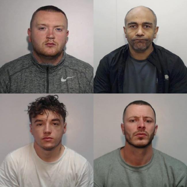 Clockwise from top left - Joshua Doyle Steven Hargreaves Paul Frater and Jordan Taylor