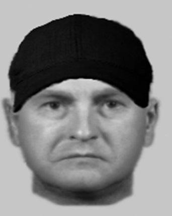 The e-fit released by police describing the man that carried out the serious assault