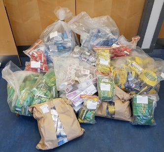 The quantity of tobacco that was found by police