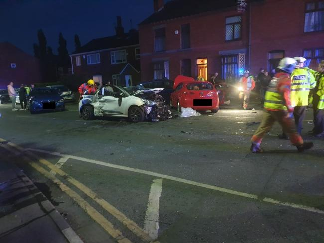 Emergency services called to eight-car crash on Tyldesley