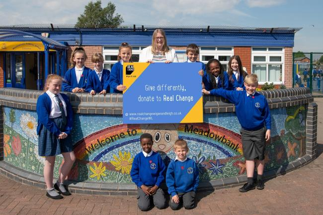 Pupils backing Real Change Wigan and Leigh homeless campaign | Leigh