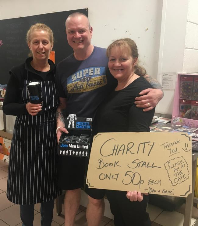 Collette Baldwin from Lister's Butchers, Paul Norton from Des West and Sons and Kathryn Holt from Café Central